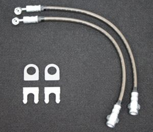 TRZ Braided SS Front Brake Line Set